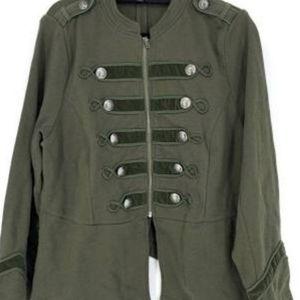 Torrid Green Knit Zip Front Military Jacket 4X